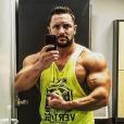 Cyril André, alias Mister Boo, montre ses muscles à ses abonnés, sur Instagram, le 30 août 2019.