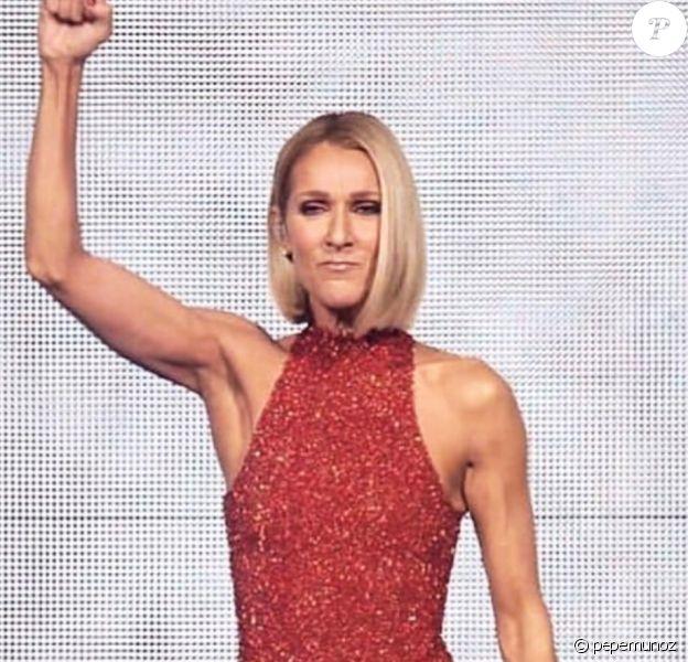 Sur Instagram, Pepe Munoz a dévoilé les marques des tenues de scène de Céline Dion lors du Courage World Tour. 18 septembre 2019.