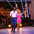 Ladji Doucouré et Inès Vandamme lors du premier prime de la saison 10 de Danse avec les Stars sur TF1 le 21 septembre 2019