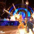 Yoann Riou et Emmanuelle Berne lors du premier prime de la saison 10 de Danse avec les Stars sur TF1 le 21 septembre 2019