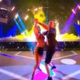 Sami El Guedarri et Fauve Hautot lors du premier prime de la saison 10 de Danse avec les Stars sur TF1 le 21 septembre 2019