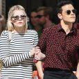 Rami Malek et sa compagne Lucy Boynton prennent un bateau taxi à Venise en marge du 76ème festival international du film, la Mostra le 4 septembre 2019.