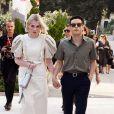 Rami Malek et sa compagne Lucy Boynton à la soirée Miu Miu en marge de la 76ème édition du festival du film de Venise, la Mostra, au Sala Volpi à Venise, Italie, le 1er septembre 2019.