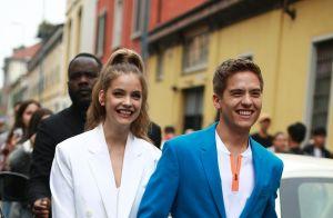 Iris Mittenaere : Nouvelle coiffure et jupe léopard à la Fashion Week de Milan