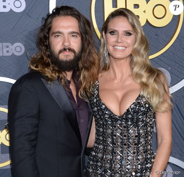 Heidi Klum et son mari Tom Kaulitz à la HBO Post Emmy Award Reception au Pacific Design Center à Los Angeles, le 22 septembre 2019