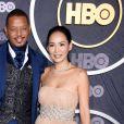 Terrence Howard and Mira Pak à la HBO Post Emmy Award Reception au Pacific Design Center à Los Angeles, le 22 septembre 2019.