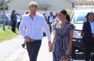 Meghan Markle et Harry main dans la main pour leur arrivée en Afrique du Sud