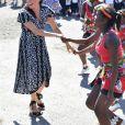 Le prince Harry, duc de Sussex, et Meghan Markle, duchesse de Sussex dans le township de Nyanga en Afrique du Sud le 23 septembre 2019.