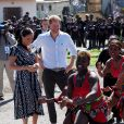 Meghan Markle, duchesse de Sussex, et le prince Harry, duc de Sussex, en visite dans le township de Nyanga, Afrique du Sud. Le 23 septembre 2019.
