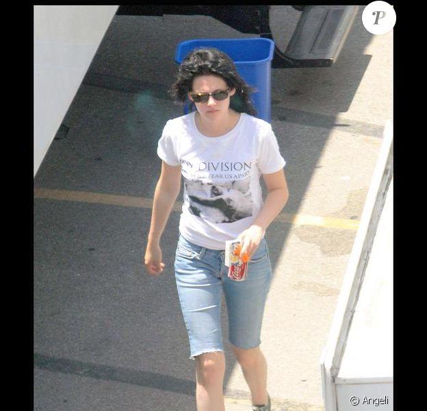 Kristen Stewart sur le tournage de The Runaways à Los Angeles le 9 juillet 2009