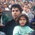 Jean Luc Lahaye et sa fille Margaux à Roland Garros- photo non datée.