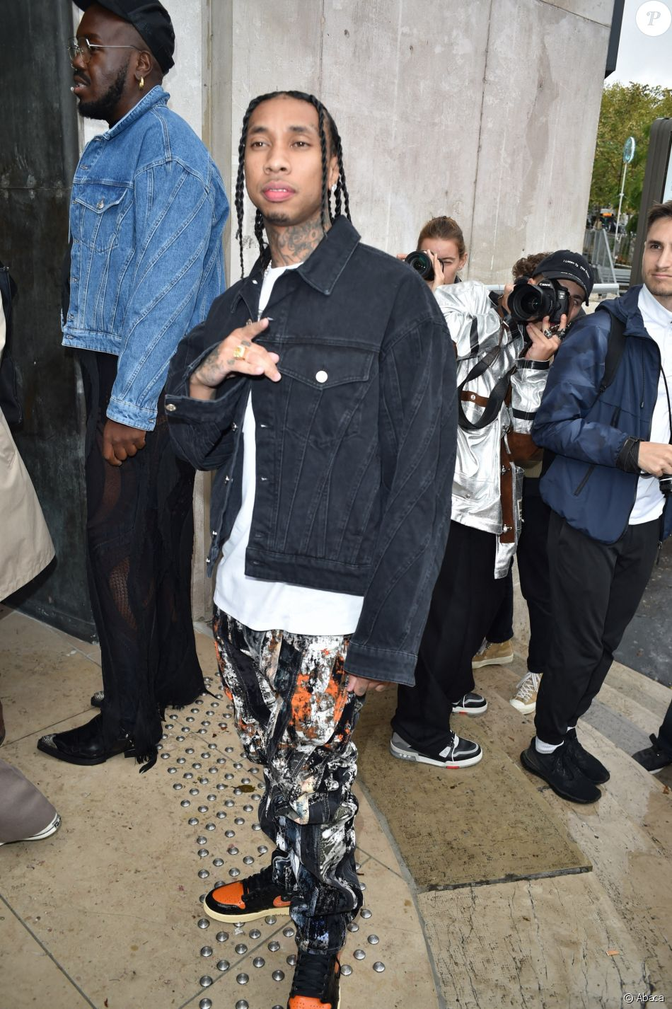 Tyga assiste au défilé Mugler, collection prêt-à-porter printemps-été 2020, au Palais de Tokyo. Paris, le 25 septembre 2019.
