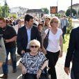 Inauguration de la rue Jacques et Bernadette Chirac, par la femme de l'ancien président de la République, Bernadette Chirac et sa fille Claude, à Brive-la-Gaillarde. Le 8 juin 2018