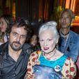 Vivienne Westwood et son mari Andreas Kronthaler assistent au défilé Stella McCartney Collection Prêt-à-Porter Printemps/Eté 2020 lors de la Fashion Week de Paris (PFW) à l'Opéra Garnier. Le 30 septembre 2019. © Olivier Borde/Bestimage
