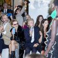 Alasdhair Willis, Natalia Vodianova, Paul McCartney et sa femme Nancy Shevell et Delphine Arnault assistent au défilé Stella McCartney Collection Prêt-à-Porter Printemps/Eté 2020 lors de la Fashion Week de Paris (PFW) à l'Opéra Garnier. Le 30 septembre 2019. © Olivier Borde/Bestimage
