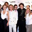 """L'équipe du film """"Le Roi"""" au BFI London Film Festival, le 3 octobre 2019."""