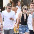Miley Cyrus, Cody Simpson et Patrick Schwarzenegger à Miami en 2014.