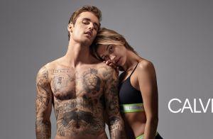 Justin Bieber et Hailey Baldwin : Jeunes mariés déshabillés pour Calvin Klein