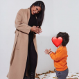 Ayem Nour et son fils Ayvin, le 8 janvier 2019.