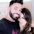 Nabilla et Thomas avec leur premier enfant, Milann le 11 octobre 2019.