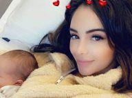 Nabilla maman : gloss, faux ongles et cils XXL pour accoucher en beauté