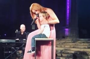 Natasha St-Pier émue : son fils Bixente monte pour la première fois sur scène