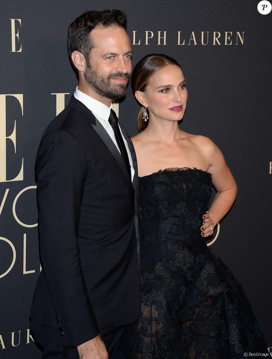 Natalie Portman et son mari Benjamin Millepied lors de la soirée ELLE Women à l'hôtel Four Seasons à Beverly Hills, le 14 octobre 2019.