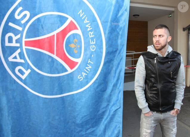 Jérémy Ménez - Les joueurs de football Christophe Jallet et Jérémy Ménez ont visite le service d'aide aux personnes handicapées à la Maison de Marie à Poissy, le 12 décembre 2013 pour la Fondation Paris Saint-Germain.