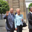 Serge Dassault et son épouse, lors de la Garden Party à l'Elysée, le 14 juillet 2009 !