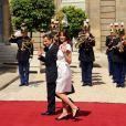 Nicolas Sarkozy et Carla Bruni, lors de la Garden Party à l'Elysée, le 14 juillet 2009 !