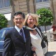 Patrick Devedjian et sa femme, lors de la Garden Party à l'Elysée, le 14 juillet 2009 !