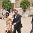 Guillaume Sarkozy et son épouse, lors de la Garden Party à l'Elysée, le 14 juillet 2009 !