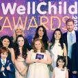 """Le prince Harry, duc de Sussex, et Meghan Markle, duchesse de Sussex, lors du """"WellChild Awards"""" à l'hôtel Royal Lancaster à Londres. Le 15 octobre 2019"""