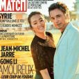 """Jean-Michel Jarre et Gong Li en couverture de """"Paris Match"""", numéro du 17 octobre 2019. Le musicien électro y accorde une longue interview à Michel Drucker."""