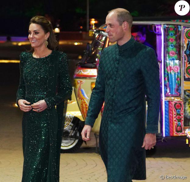 Kate Middleton, duchesse de Cambridge, le prince William, duc de Cambridge - Le duc et la duchesse de Cambridge arrivent à une réception en leur honneur donnée par le haut commissaire britannique au Pakistan , à Islamabad le 15 octobre 2019.