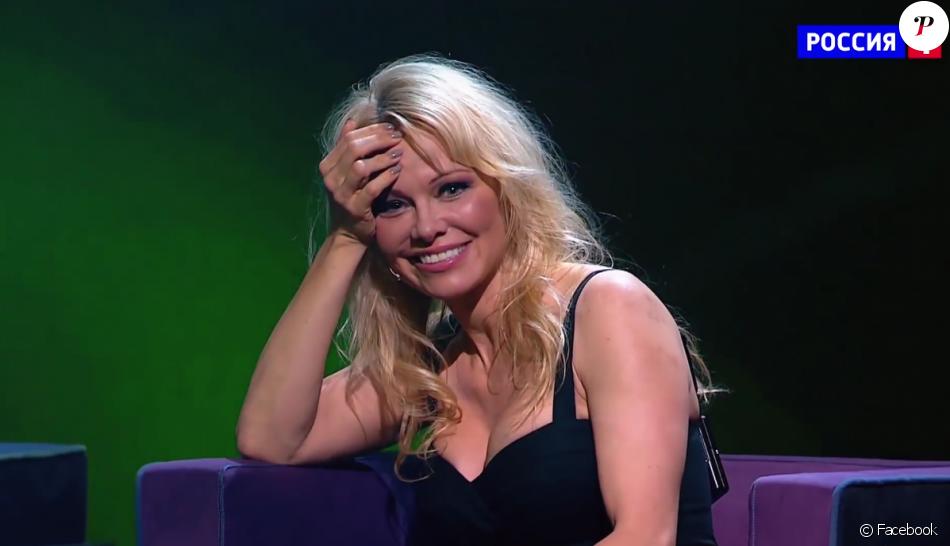 """Pamela Anderson bluffée par Dirabi dans """"La Russie à un incroyable talent"""" en 2018."""
