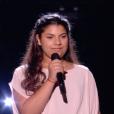 """Antonia - Finale de """"The Voice Kids 2019"""" sur TF1. Le 25 octobre 2019."""