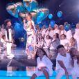 """Soan et Amel Bent - Finale de """"The Voice Kids 2019"""" sur TF1. Le 25 octobre 2019."""