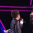 """Jenifer et Natihei - Finale de """"The Voice Kids 2019"""" sur TF1. Le 25 octobre 2019."""