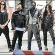 Les Black Eyed Peas sur le tournage de leur nouveau clip à Los Angeles hier mercredi 15 juillet