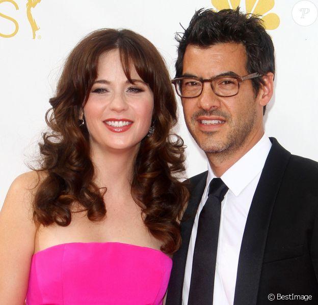 Divorce - Zooey Deschanel et Jacob Pechenik à la 66ème cérémonie annuelle des Emmy Awards au Nokia Theatre à Los Angeles, le 25 août 2014.