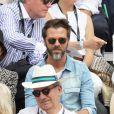Christophe Maé et sa compagne Nadège Sarron - Célébrités dans les tribunes des internationaux de France de tennis de Roland-Garros à Paris, France, le 9 juin 2019. © Jacovides-Moreau/Bestimage