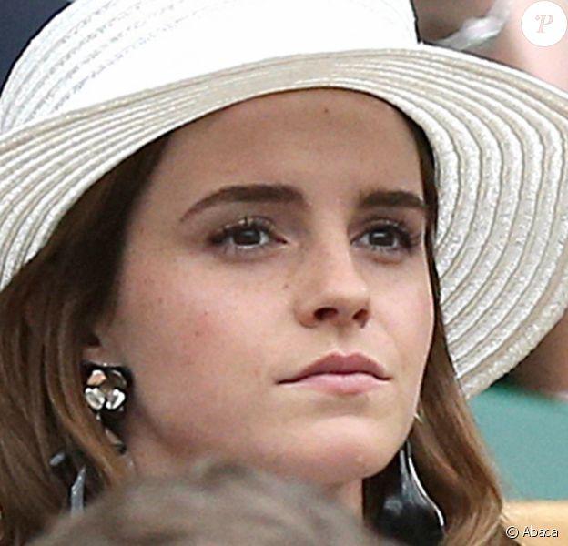 Emma Watson - Tournois de Wimbledon, Londres. Le 14 juillet 2018. @Steven Paston/PA Wire/ABACAPRESS.COM