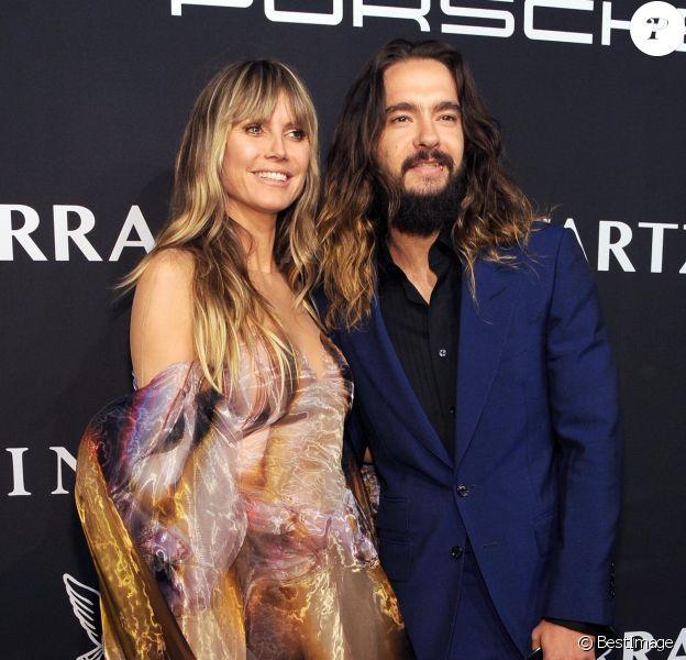 """Heidi Klum et son mari Tom Kaulitz assistent à la soirée """"Angel Ball"""" de la Gabrielle's Angel Foundation au Cipriani Wall Street à New York, le 28 octobre 2019."""