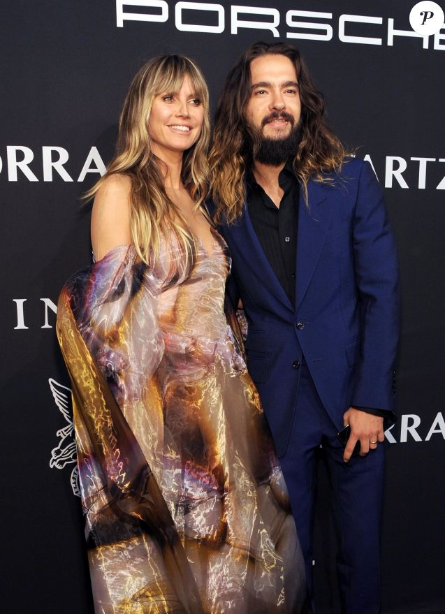 "Heidi Klum et son mari Tom Kaulitz assistent à la soirée ""Angel Ball"" de la Gabrielle's Angel Foundation au Cipriani Wall Street à New York, le 28 octobre 2019."