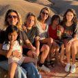 Sarah Poniatowski, Mademoiselle Agnès et leurs enfants en vacances au Maroc, sur Instagram, le 30 octobre 2019.