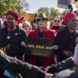 Jane Fonda, 81 ans, menait une nouvelle manifestation le 1er novembre 2019 à Washington pour alerter les décideurs politiques et l'opinion publique sur l'urgence d'agir face à la crise du changement climatique.