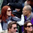 Audrey Fleurot et son compagnon Djibril Glissant dans les tribunes des internationaux de France de Roland Garros à Paris le 4 juin 2016. © Moreau - Jacovides / Bestimage04/06/2016 - Paris