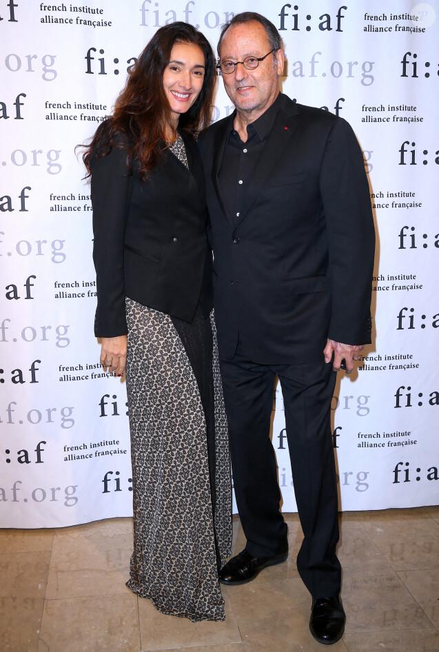 Jean Reno et sa femme  Zofia Borucka lors de la soirée  Trophée des Arts Gala organisée par la  French Institute Alliance Française (FIAF) au Plaza Hotel à New York le 4 novembre 2019.