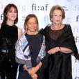 Charlotte Gainsbourg,  Dominique Senequier et Marie Monique Steckel  lors de la soirée  Trophée des Arts Gala par la  French Institute Alliance Française (FIAF) au Plaza Hotel à New York le 4 novembre 2019.